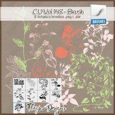 CU vol 148 Vintage Botanics Brush ( png & abr ) Florju Designs  #CUdigitals cudigitals.com cu commercial digital scrap #digiscrap scrapbook graphics
