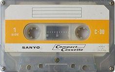 SANYO C-30 Sony Electronics, Magnetic Tape, Cassette Tape, Mixtape, Ephemera, Compact, Nostalgia, Audio, Culture