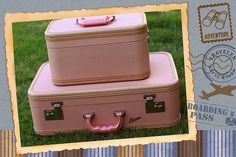 pink vintage suitcases - Google Search