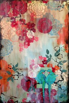 """Kathe Fraga paintings, inspired by vintage Paris and Chinoiserie ancienne. """"The French Wallpaper Series"""", 24x36 on frescoed panel. www.kathefraga.com"""