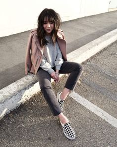 Shop the Look from Kate Ogata on ShopStyleShop the look from thefancypantsreport on ShopStyle Punk Fashion, Urban Fashion, Fashion Looks, Fashion Outfits, Street Fashion, Fashion Trends, Espadrilles, Edgy Chic, Ootd