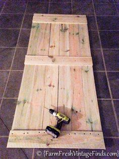 Hometalk :: How to Build and Hang a Barn Door for Around $20!