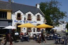 Le bar de la Presqu'île à Saint-Gildas de Rhuys, Morbihan, Bretagne.