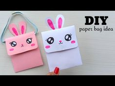 crafts with paper - YouTube Origami Gift Bag, Origami Hand, Origami Paper, Diy Paper Bag, Paper Bag Crafts, Paper Bags, Diy Crafts For Kids Easy, Creative Crafts, Kawaii Crafts