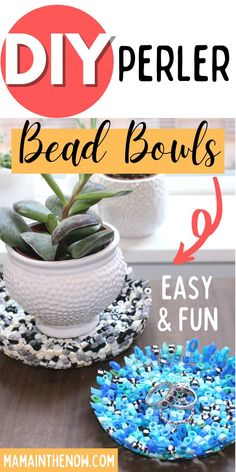 You won't believe how fun and functional these Perler Bead bowls are. You are going to want to make one for every room in the house! These Perler melted bead bowls make great Christmas gifts for grandparents. These bead bowls are wonderful teacher gifts! #PerlerCrafts #Perlerbeads #teachergifts #handmadegifts #craftsforkids #mamainthenow Holiday Crafts For Kids, Crafts For Teens, Fun Crafts, Melted Bead Bowl, Melted Bead Suncatcher, Melted Bead Crafts, Handmade Teacher Gifts, Diy Perler Beads, Melting Beads
