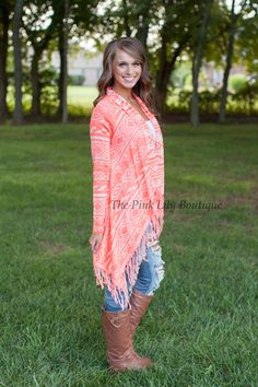 The Pink Lily Boutique - Neon Aztec Cardigan, $42.00 (http://thepinklilyboutique.com/neon-aztec-cardigan/)