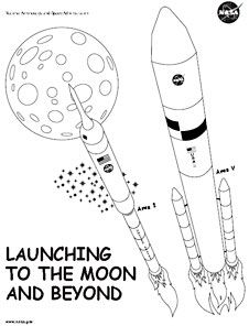 From NASA - The book has outline drawings of the space ...