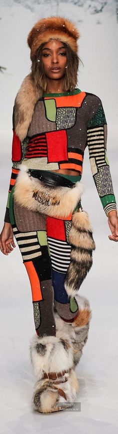 Moschino Fall-winter 2015-2016 accessories' you won't get a cold! ask moshino to make it in an fake fur...