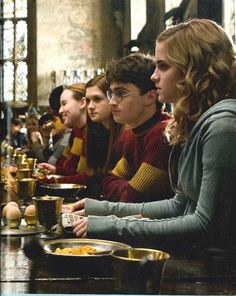 Breakfast before Quidditch.
