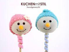 Cute Snowmen Hats Cake Pops