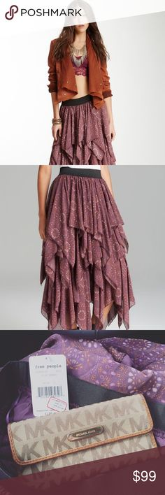 Free People Plum Berry Tiered Skirt Gorgeous Free People NWT tiered skirt in perfect condition. So cute! Wear with anything! 25dxscgg Free People Skirts Maxi