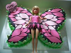 barbie birthday cake ideas - Click to see all the barbie themed birthday cakes on this website!