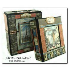 "Cityscapes ""Graphic 45"" Mini Album - PDF Tutorial"