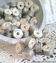❥ silver bobbin thread