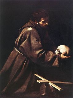 St. Francis by Caravaggio, Oil on canvas