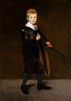 Édouard Manet Le jeune garçon à l'épée, 1861 Huile sur toile, 131, 1 x 93, 4 cm New York, Metropolitan Museum of Art © The Metropolitan Museum of Art, Dist. RMN / imageof the MMA