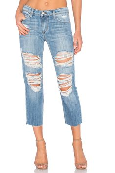 Joe's Jeans Livvy Collector's Edition The Sawyer Crop in Light Blue Destroyed | REVOLVE
