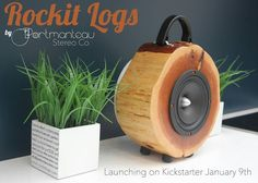 How former US Men's National Team soccer player and product designer @D6MERIT of @portmanteaustereo launched the Rockit Log - an audiophile-quality speaker made from reclaimed logs.