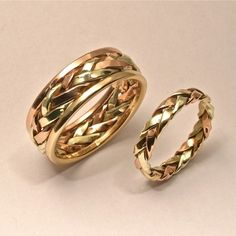 $500.00 Braided Ring in multiple gold strands for by HarvestGoldJewelry