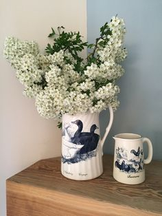Norfolk Pottery with Hawthorn Blossom Blue And White China, Norfolk, Pottery, Mugs, Vintage, Home, Ceramica, Pottery Marks, Tumblers