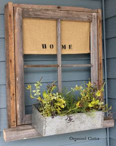 Weathered Frame Window Box