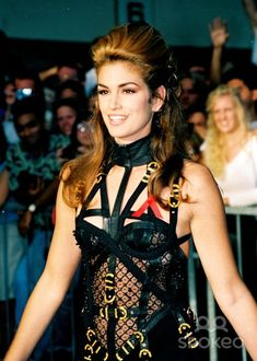 Cindy Crawford 1992 MTV VIDEO MUSIC AWARDS at Pauley Pavilion Los Angeles, CA 10.09.92
