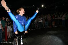 https://flic.kr/p/LsvdT | Ines Brunn performing bicycle ballet | The Bicycle Film Festival
