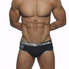 Mens Sexy Camouflage Black Briefs Hot Swimming Swim Trunks Shorts SIZE S M L XL   Sporting Goods, Water Sports, Swimwear & Safety   eBay!