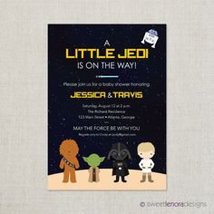 Star Wars Baby Shower Invitation By SweetLenoraDesigns