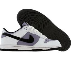 brand new d00a6 07206 Nike Womens Dunk Low (white  black  violet haze) 309324-102 -