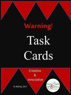 https://www.teacherspayteachers.com/Product/Task-Cards-Wandalotte-1391927 his is a set of 10 Task Cards revolving around the imaginary city of Wandalotte on the island of Wanddleit.  Each of the cards involve a specific scenario that require the students to solve. Students will invent, construct, design, problem solve and write poetry.