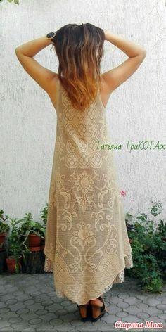 Встречайте! Я уже связала! Платье в стиле бохо в филейной технике. - Страна Мам