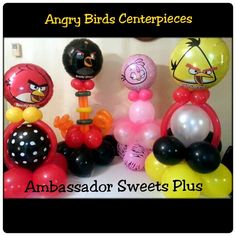 Angry birds centerpieces