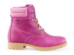 Leather Boots fuchsia pink Dameslaars PANAMA 03 COLOURS fuchsia   Panama Jack® winkel