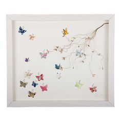 Butterfly Garden Collage by Eloise Hall ~ via Not on the Highstreet