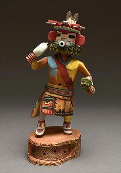 Snow Kachina Doll by Buddy Tubinaghtewa (Hopi)