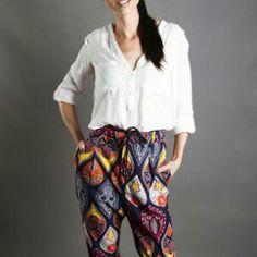 Littleminx.co.za Printed Pants, Parachute Pants, Harem Pants, Boho, Womens Fashion, Printed Trousers, Print Jeans, Harem Trousers, Harlem Pants