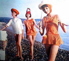 Beach fashions Jacques Esterel, photo Joseph Santoro, Seventeen April 1961