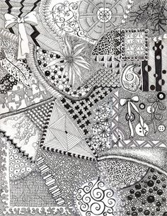 Gorgeous! Zentangle canvas background Use this + colorful watercolor as backdrop for YW pictures!