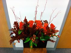 Our office flowers, by Sarah-Ann flowers