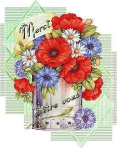 Gifs Merci (369) Merci Gif, Beau Gif, Les Gifs, Gif Animé, Art Floral, Amazing Women, Thinking About You, Free Animated Gifs, Cards