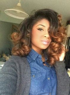 2017 Spring & Summer Hair Color Trends For Black & African American Women. Reinvent yourself this summer by stepping up your hair game with a brand new hair shade. Love Hair, Big Hair, Gorgeous Hair, Summer Hairstyles, Weave Hairstyles, Pretty Hairstyles, Curly Hair Styles, Natural Hair Styles, Natural Hair Blowout