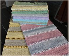 Recycled Fabric, Carpet Runner, Woven Rug, Loom, Weaving, Blanket, Crochet, Rug Ideas, Cotton Rugs