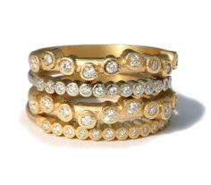 Gems Jewelry, I Love Jewelry, Diamond Jewelry, Jewelry Box, Fine Jewelry, Jewelry Design, Jewlery, Stacked Engagement Ring, Best Diamond Rings