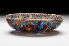 Greek, Hellenistic, Eastern Mediterranean  Bowl, 150-50 B.C.  Glass, mosaic technique
