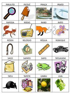Bingo dos sons iniciais        Objetivos didáticos:   - compreender que as palavras são compostas por unidades sonoras que podemos pronunci...