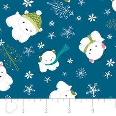 Heather Rosas - Winter Wonderland - Polar Bears in Blue