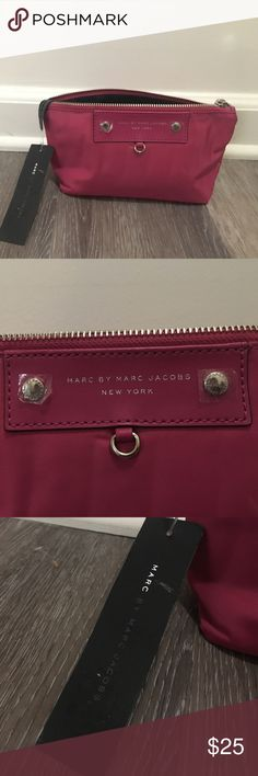 Marc by Marc Jacobs Cosmetic case Fun & flirty hot pink cosmetic case. Perfect condition, NWT. Measurements are taken from the base of case. Marc by Marc Jacobs Bags Cosmetic Bags & Cases