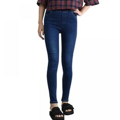 Women's Elastic Denim Leggings for Sport Work Jeans, Jeans Denim, Denim Leggings, Jeans Pants, Trousers, Skinny Jeans, Ankle Length Pants, Jeans Style, Fashion Pants