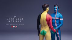 Euro 2016 Foes Spread the Love, Not HIV, in Risqué French AIDS Awareness Ads | Adweek